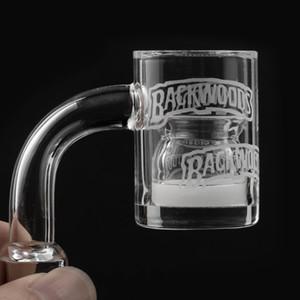 Nueva biselado de cuarzo borde banger + cuarzo Insertar Splash tazón de inserción de aceite de Rig vaso de agua Bongs Dab Petróleo