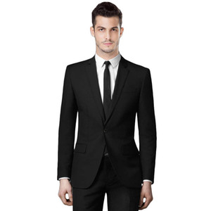 2018 black classic men suits formal business tuxedos wedding suits for groomsmen best men slim fit terno summer jacket and pants