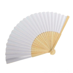 Blank Other Home Decor Home Dcor White DIY Paper Bamboo Folding Fan for Hand Practice Calligraphy Painting Drawing Wedding Party Gift Orname