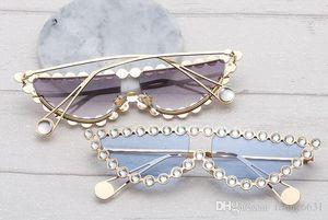 newest woman Metal set au glasses ladies fashion Triangular cat eye frame Driving Glasses wind Cool sun glasses girl sunglasses free ship
