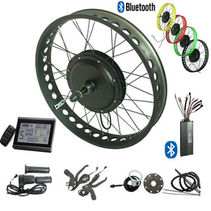4.0 inch wide tire electric bike conversion kit 48V 750W ebike 20'' 24'' 26'' KT LCD 3 display + bluetooth controller Regeneration