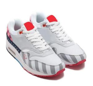 Nova Netherland Designer Piet Parra 1 Branco Multi Tênis de Corrida Rainbow Park Homens Sapatos Formadores Das Mulheres 87 Tênis Tamanho 36-45
