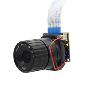 Freeshipping Raspberry Pi Camera / 5MP 6mm Longitud focal Placa de cámara NoIR de visión nocturna con IR-CUT para Raspberry Pi 3 Modelo B / 2B / B + / Zero (w)