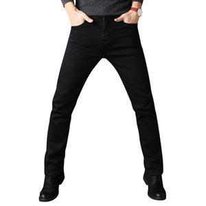 Мужчины растянуть все черные цвета брюки бренд одежды 2018 новинка повседневная джинсовые брюки мужские качества Y19060501