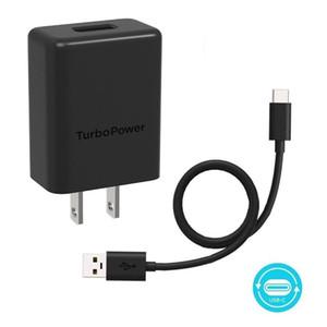 OEM QC3. 0 Fast Wall Charger Turbo power USB Quick Charge UL Plug Adapter быстрая зарядка с кабелем USB C для Motorola samsung