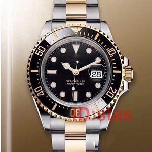 Or 18 carats lunette en céramique 43mm RED SEA-DWELLER Stanless Steel 126603 designer de luxe automatique Homme montre homme montres-bracelets Montres 2019