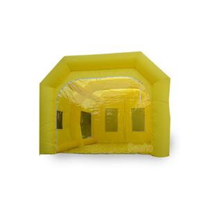 كشك الطلاء بالرش القابل للنفخ 23 قدم / 7 متر مع منفاخ هواء واحد ، كشك طلاء السيارات (23 × 13 × 10 قدم) يمكن حفظه بحجم