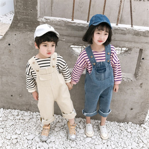 Baby jumpsuits 2 colors baby girls boys cute sleeveless solid overalls for kids cotton jumpsuits baby infant boy  clothes FJ171