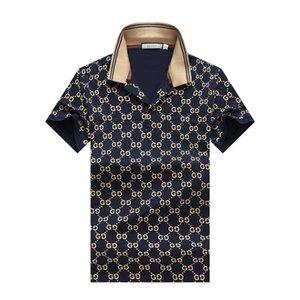 hombre caliente de la venta de la nueva manera de la camiseta de algodón de calidad superior corto verano Los polos diseñadores famosos de la marca ajuste delgado hombres de la camiseta M-3XL P48