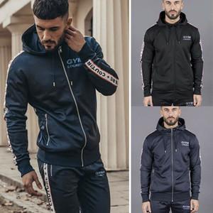 Kış Moda Erkekler Sıcak Spor Kapşonlu eskitmek Zip Ceket Hırka Ceket Hoodie Dış Giyim