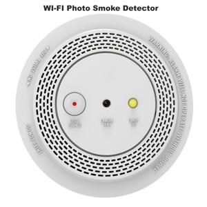Беспроводный дымовой сигнализации детектор с 1080P смарт WIFI Фото тревожной камеры дистанционного голосового оповещения Индикатор мигает Тревога