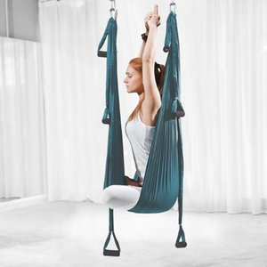 Full Set 6 Handles Anti-gravity Aerial Yoga Ceiling Hammock Indoor Yoga Swings Flying Trapeze Inversion Device Home GYM