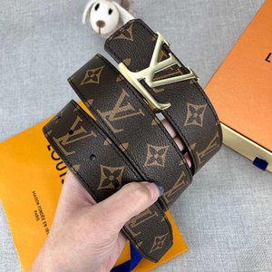 Moda Uomo Donna Cinture di design Cintura di lusso Cinture di moda Casual Marca Smooth Buckle Sliver Gold Larghezza opzionale 34mm Alta qualità con scatola