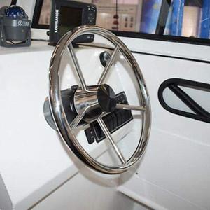 Roue en acier pour bateau de direction Ting Ao polie diamètre marin de yacht à 5 rayons 13-1 / 2