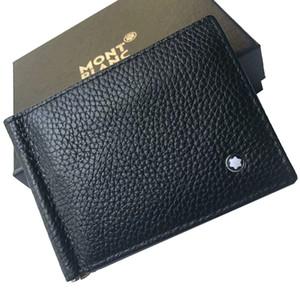 Cartera para tarjetas de crédito para hombre carpeta del cuero genuino de alta calidad Billeteras con monedero simple marca del titular de la tarjeta clip del dinero de los nuevos hombres