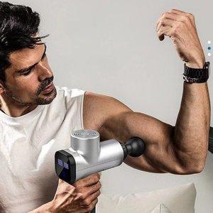 2020 Myofascial Physiotherapy Instrument Mute Touch Screen Fascia Gun Massage Gun Electric Warp Film Impact Relax Gun Deep Massager