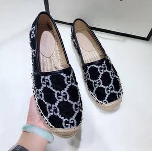 Novas mulheres atoalhados sapatos alpercatas de luxo designer mulheres sapatos pescador mulheres sapatos casuais moda casual de alta qualidade