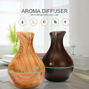 USB LED Humidifier Wood Grain Ultrasonic Essential Oil Diffuser Home Aroma Aromatherapy Diffuser Purifier Mist Maker