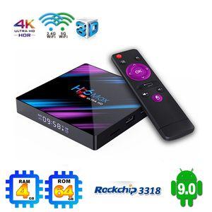 Android 9.0 TV Box H96-MAX 4GB 32GB RK3318 Quad Core Smart TV Box 2.4G 5G WiFi Bluetooth4.0 TX3 MINI