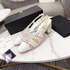 Chanel brand designer Estate Casul Nero Sandali Open Toe Ankle Strap coperchio talloni della donna Sandali festa di nozze Lady High Heel Sandals WE02