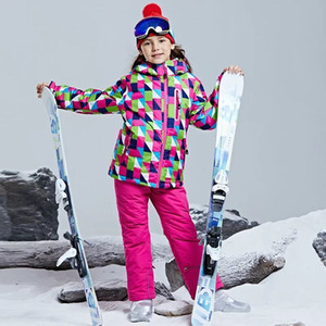 2020 Hot Sale Brand Boys Girls Ski Suit Waterproof Pants+Jacket Set Winter Sports Thickened Clothes Children's Ski Suits