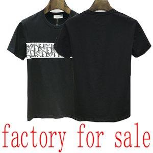22ss lusso T-shirt gli uomini della Bermuda europea hip-hop stampato estate T-shirt a maniche corte camicia nuova rotonda italiana di cotone al collo degli uomini