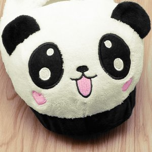 THINKTHENDO nette Panda-Augen-Frauen-nette Hausschuhe reizende Karikatur Innen Zuhause weiche Schuhe