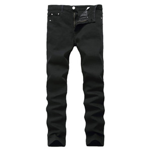 Nueva llegada Jeans para hombres Jeans baratos China Straigh Regular Fit Denim Pants Classic Elastic Black Color