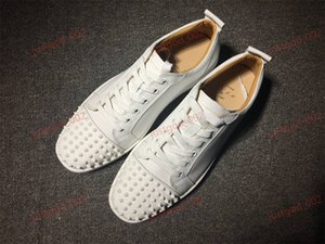 xshfbcl progettista red bottom is red shoe Low Cut Suede spike Shoes For Men Women lussuoso Shoes Party Wedding crystal Leather Sneakers