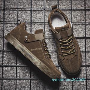 Moda ulzzang Plimsolls caída de la PU de las zapatillas de deporte del patín 50% de los hombres cuerda plana zapatos de suela color sólido del resorte del calzado robustos zapatos del tablero informal r09