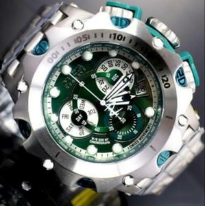 2019 Top qualité originale COSC suisse modèle Réserve Invicta: 27788 Chronographe lumineux fuseaux horaires multifonctions Hommes Quartz montre