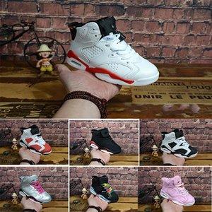Bambino Bambini Uptempo bambini di pallacanestro scarpe di alta qualità delle ragazze dei ragazzi Retro Designer Shoes Enfant Chaussures Pattino corrente Eu28-35040f #