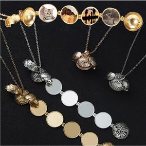 Magic Photo Подвеска памяти Floating Медальон ожерелье позолоченный Крылья ангела флэш Box моды Альбом Box Ожерелье для женщин
