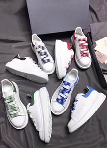 2019 donne di design di lusso di moda Scarpe casual per mocassini da uomo sneakers da uomo vestono mocassini con zeppa e scarpe da ginnastica con scatola