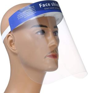 Anti-tükürük tek kullanımlık Güvenlik yüz Kalkanı sıvı dayanıklı tam yüz maskesi şeffaf yüz kapak maske siperliği koruma sıçrama sıçramak