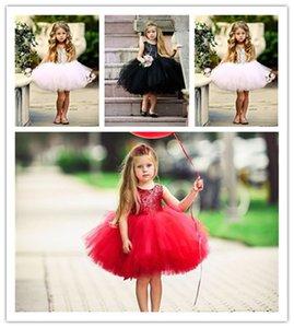 Ins de ballet de los bebés de las lentejuelas vestido de la princesa del tutú visten de gasa niños sin respaldo partido bowknot Vestidos de verano Favorecer Cloth boda E22705