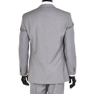 Trois Pièce Gris Clair Hommes Costumes Pour Le Marié De Mariage Porter Custom Made Veste Pantalon Vest Classic Fit Affaires Prom Smokings