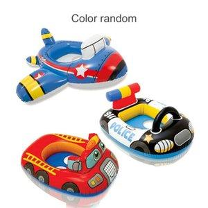 Vueltas de natación anillos de asiento de los juguetes en barco para Ring Niño Niña Espesar PVC Baby Kids Swim piscina Deportes acuáticos inflables círculo del flotador del asiento