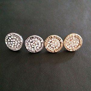 Orecchini da sposa per le donne rotonde Gem Gem Crystal Borchie di lusso oro argento placcato orecchino orecchino orecchino anello orecchio anello signora orecchini ragazza stud gioielli