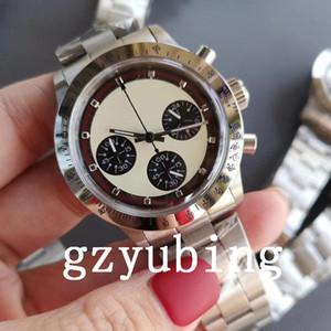 Melhor Qualidade Chronograph Vintage Perpetual Paul Newman Quartz Movimento Orologio Di Lusso Homens Homens Esporte Relógios Relógios de pulso