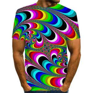 Hombres 3D DESIGNER TSHIRTS O casual de manga corta cuello camiseta transpirable Nueva ropa de verano para hombre
