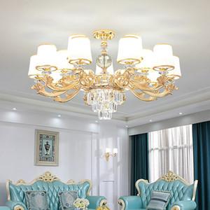 الثريا الإضاءة الحديثة الكروم بقيادة ثريات الإضاءة كريستال غرفة المعيشة بقيادة سقف الثريا للعيش أضواء غرفة