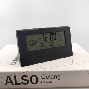 Alarm Clock Temperature Humidity Monitor Digital Weather Station For Office Bedside Kitchen Other Clocks Accessories
