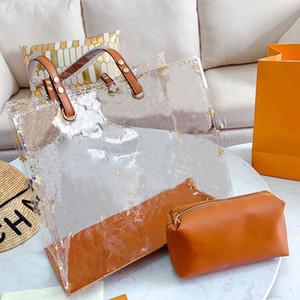 Tote Bag Big-Handgeldbeutel Zipfel Mode Klar Old Blume Transparent Frauen Einkaufen Strandtaschen PVC Composite-freies Verschiffen