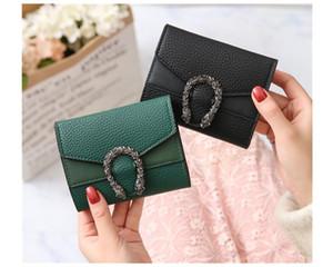 디자이너 지갑 작은 지갑 짧은 레트로 접은 지갑 변경 레드 블랙 그린 브라운 순수한 색상 핫 세일 미니 여성 가방 공장 가격