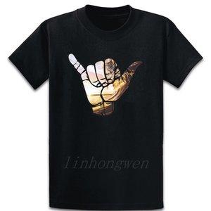 Hang Loose Havaí Camiseta de algodão confortável Crew Neck Designer solto Família Carta Primavera Shirt