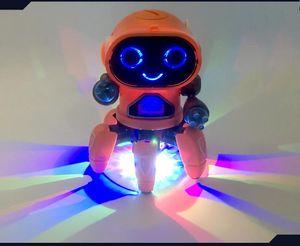 Elektrikli Dans Altı Pençe Ahtapot Alaşım Robot, renkli LED Çeşitli Müzik Işıklar, Yürüme esnek, Evrensel Teker, Noel Kid Doğum Hediye, 2-2