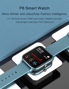 IOS Android için yeni 2020 P8 Akıllı İzle Erkekler Kadınlar Spor IP67 su geçirmez Saat Nabız Tansiyon Aleti Smartwatch