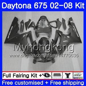 Body For Triumph Gris plateado Daytona 675 02 03 04 05 06 07 08 Daytona675 322HM.10 Daytona 675 2002 2003 2004 2005 2006 2007 2008 Carenado
