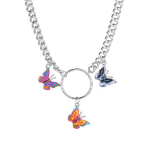 Fashion Punk Style Butterfly Choker Collana Collana Gioielli Donne Collares Gothic Hip Hop Regalo Collana Collares Mujer